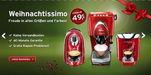 Cafissimo-Weihnachtsaktion Weihnachtissimo