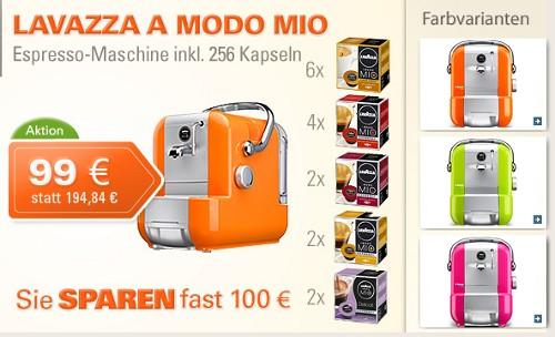 A Modo Mio 1100 Inkl 16 Packungen Kapseln Fur 99 Euro Der