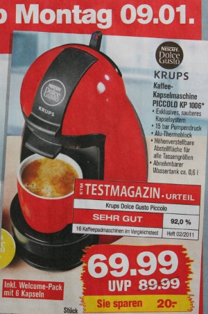 Relativ Rote Dolce Gusto Piccolo (KP 1006) bei Penny für 69,99 Euro | Der HS91